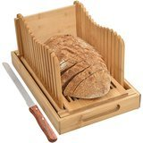 BambooSong Bamboo Bread Slicer with Crumb Tray